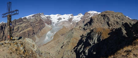 aosta: Landscape from Resy peak, Monte Rosa Group, Aosta, Italy