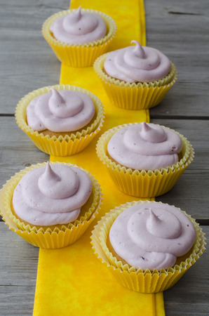 patty cake: Homemade cupcakes with  blackberries