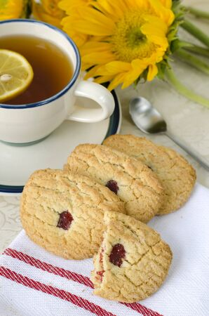 Sugar cookies on a cloth
