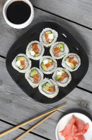 California sushi roll japanese food style 版權商用圖片
