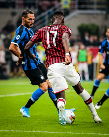 during the Italian championship Serie A football match between AC Milan and FC Internazionale on September 21, 2019 at Giuseppe Meazza stadium in Milan, Italy - Photo Nderim Kaceli / DPPI