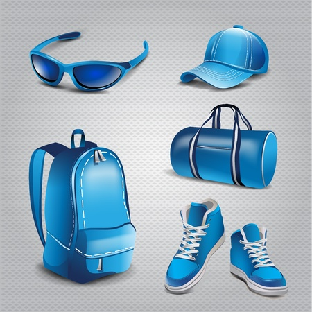 Vector realistic sport objects icons