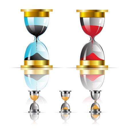 sand clock: icona dell'orologio vettore sabbia Vettoriali