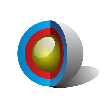 vettore sezione sfera