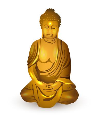 gold buddha, vector Vector