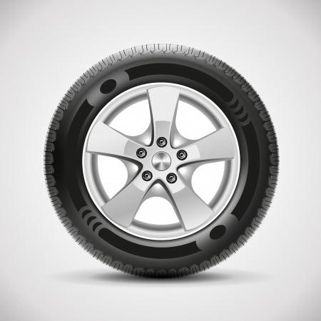 車のタイヤ、ベクトル