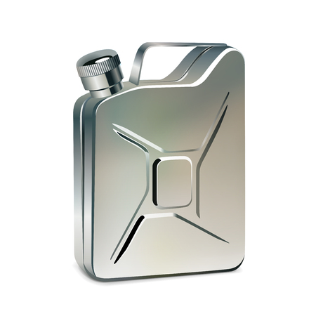petrol can: Gas container, realistic vector