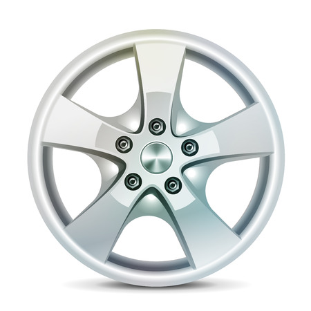 racing wheel: Car rim, alloy wheels, vector Illustration