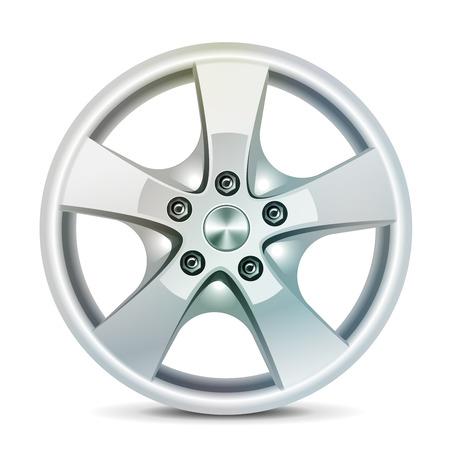 Car rim, alloy wheels, vector Illustration