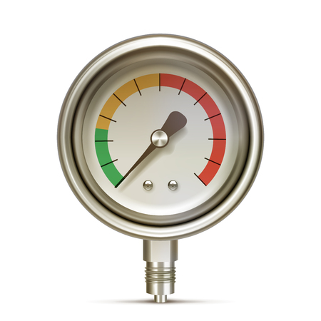 pressure gauge: Pressure gauge isolated on white background