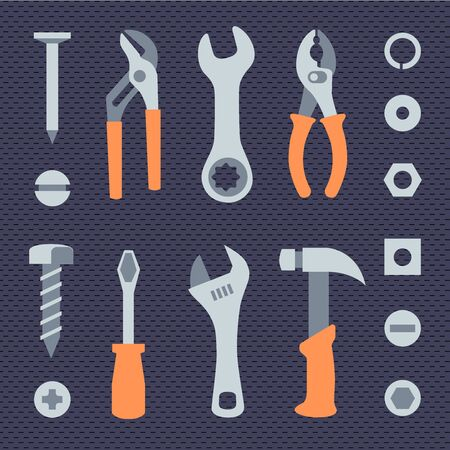 Repair tools simple icons set Ilustrace