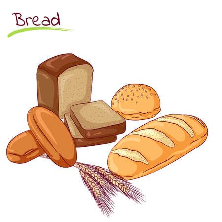 Various bread loafs