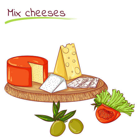 Mix cheeses and vegetables