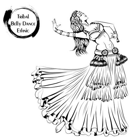 Dance line tribal belly dance