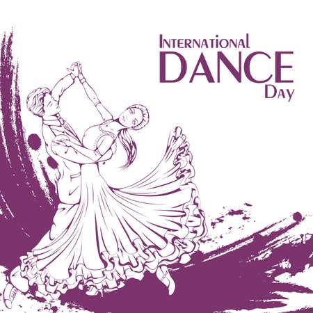 Dance day ballroom dancing standard Illustration