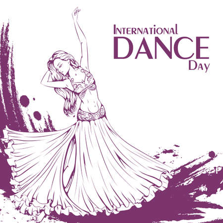 retro woman: Dance day belly dance