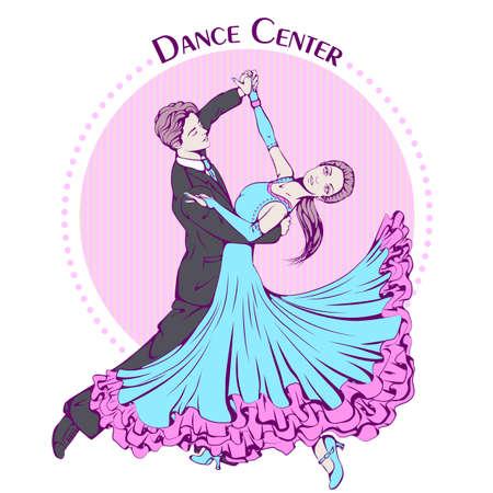 Dans lijn kleur ballroom dancing klassiek