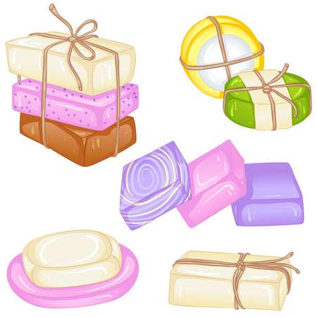 Various handmade soaps