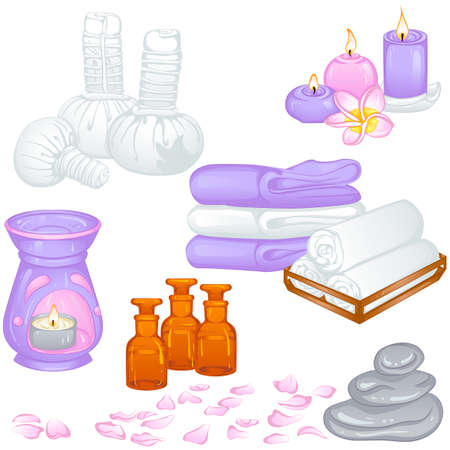 Set of accessories for spa