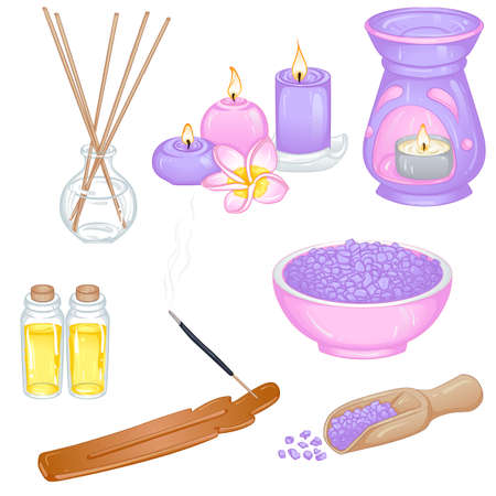 Set of accessories for aromatherapy