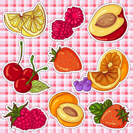 Berries and fruits stickers