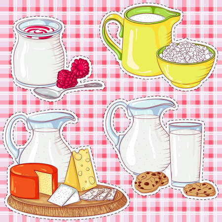 Dairy products stickers