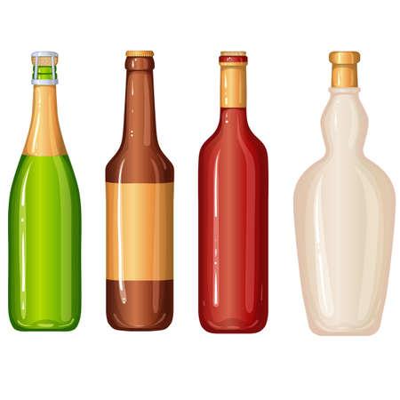 Bottles illustration Foto de archivo - 128375939