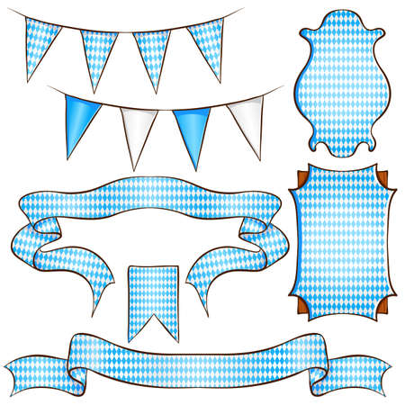 Ribbons and labels Stock Illustratie
