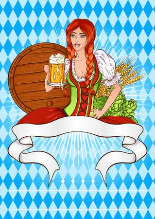 Beer festival template illustration