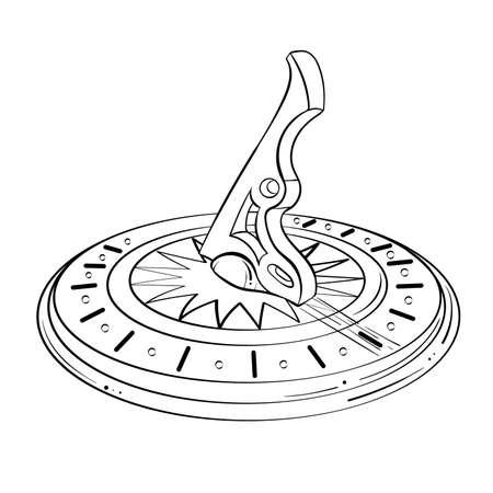 Sundial line art