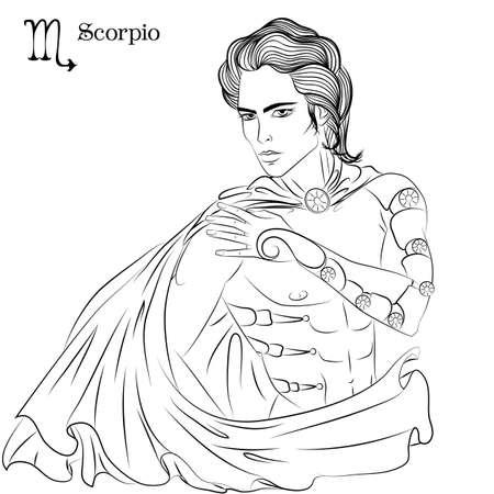 Scorpio line art
