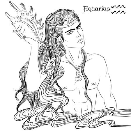Aquarius line art