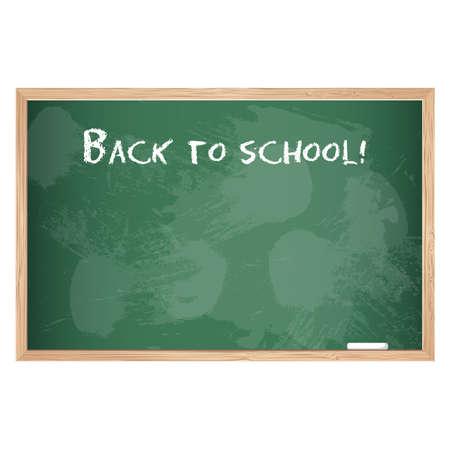 Green school chalk board