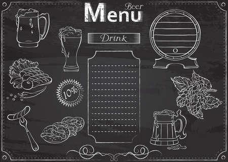 Beer menu chalk