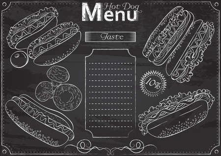 Hot Dog menu chalk