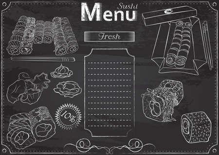 Sushi menu chalk