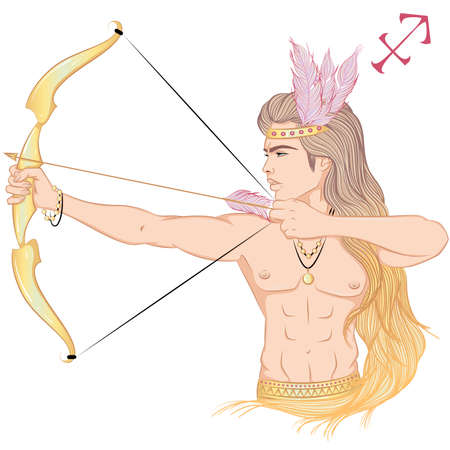 Astrological sign of Sagittarius 矢量图像