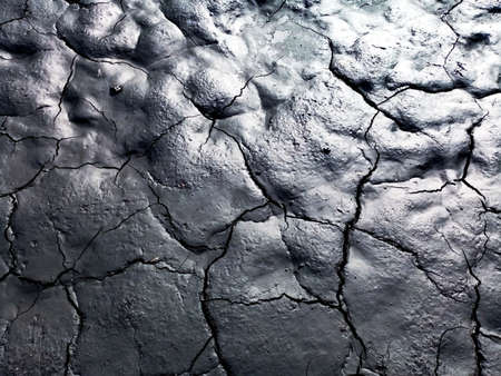 Glossy dry anthracite coal texture with cracks