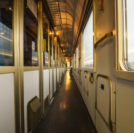 intercity: interior of a train - corridor