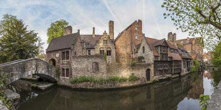 bruges: Bonifacius bridge, one of the most romantic location in Bruges, Belgium