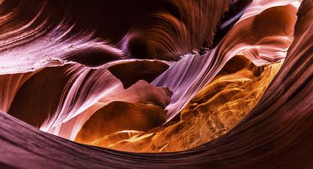 Inside the Lower Antelope Canyon near Page (Arizona)