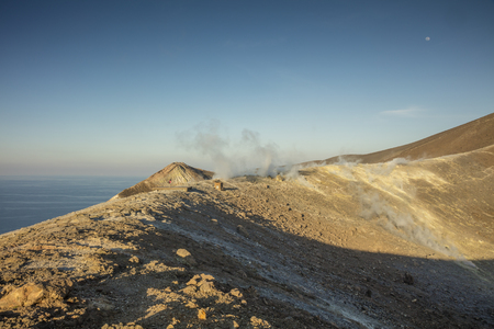 Panoramic view of the top of Vulcano, Aeolian Islands