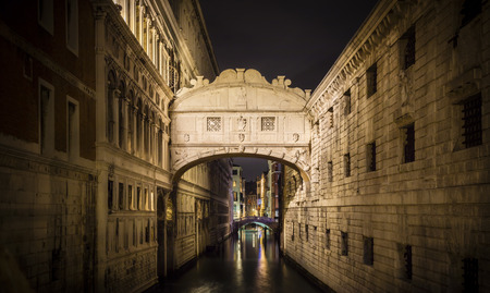 Nocturnal view of the Bridge of Sighs, Venice