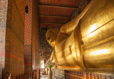 Wat Pho Temple, known also as the Temple of the Reclining Buddha, is a Buddhist temple complex in the Phra Nakhon District, Bangkok, Thailand