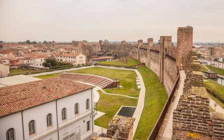 Cittadella, a medieval fortified walled town in Veneto province, north of italy