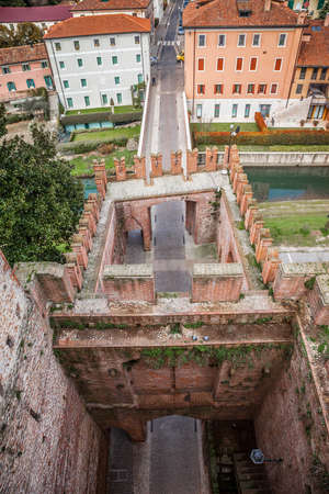 Cittadella, a medieval fortified walled town in Veneto province, north of italy Editorial