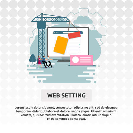 Web Setting - Illustration Design