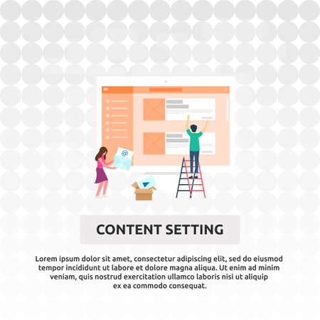 Content Setting - Illustration Design Illustration