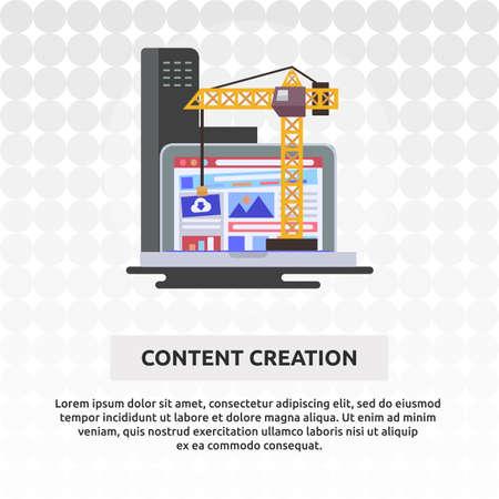 Content Creation - Illustration Design Ilustração