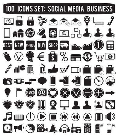 iconos de música: iconos de medios de comunicaci�n social iconos vectoriales - Vectores